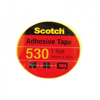"3M Scotch 530 Tape 18mmx25m (1"" core)"