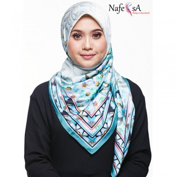 Nafeesa Azalea Turquoise Shawl