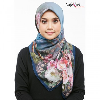 Nafeesa Camelia Royal Blue Shawl