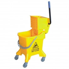 Single Wringer Bucket (Side Press) - SWB-386 Yellow (item no:G01-528)
