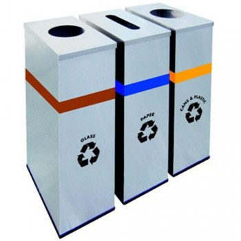 Stainless Steel Rectangular Recycle Bins-RECYCLE-133/SS (Item No: G01-299)