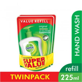 Dettol Hand Wash Original Refill Pouch Twin Pack 2 x 225ml