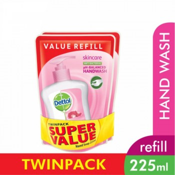 Dettol Hand Wash Skincare Refill Pouch Twin Pack 2x225ml