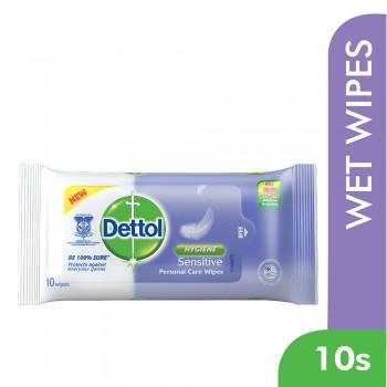 Dettol Personal Care Wet Wipes Sensitive 10s