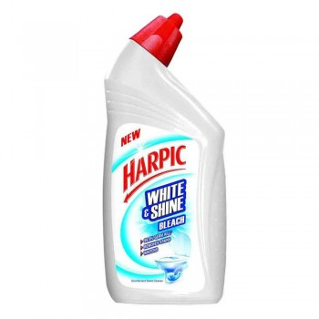 Harpic Liquid Toilet Cleaner White & Shine Bleach Bottle 500ml