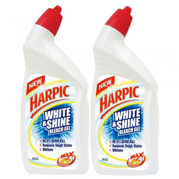 Harpic Liquid White & Shine Bleach Gel Twin Pack 500ml