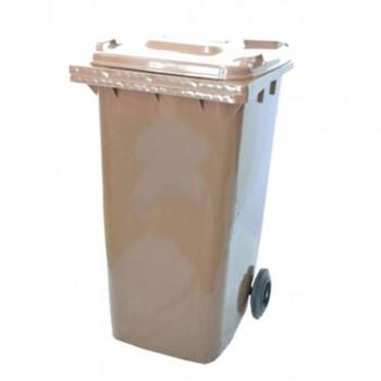 LEADER Mobile Garbage Bins BP 120 Brown