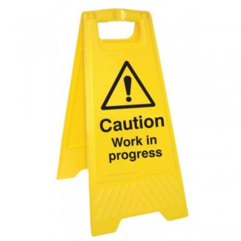 A-Standing Caution Sign - WORK IN PROGRESS