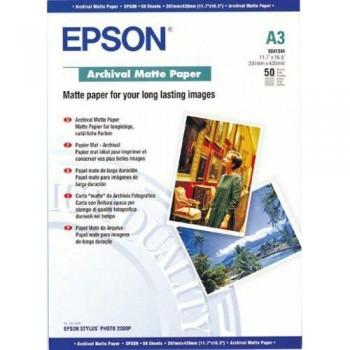 Epson S041344 Archival Matte Paper - A3 - 50sheets - 192g