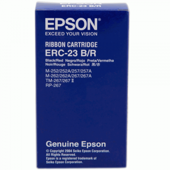Epson ERC 23 Ribbon - Black/Red (Item No: EPS ERC 23 B/R)