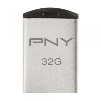 PNY Stainless Steel Micro M2 Attache USB Flash Drive - 32GB (Item No: PNYM2MICRO32) 2A4R2B99