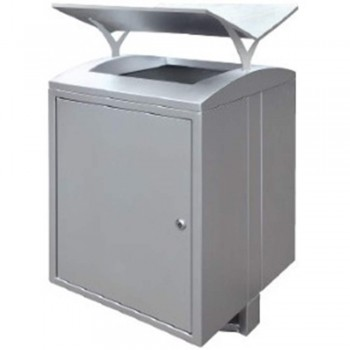 Stainless Steel Square Waste Bin c/w Open Top-SQB-157/OT (Item No.G01-283)