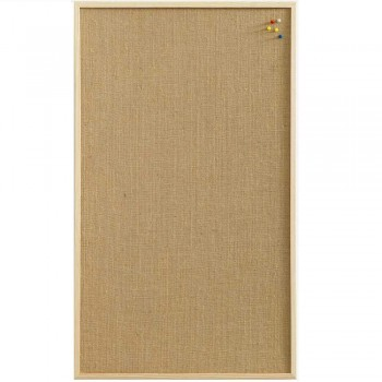 NAGA PINBOARD HESSIAN NATURE ~ NoticeBoard with wooden frame. Size: 40 x 60cm (Item no:G14-19)