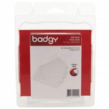 Badgy CBGR0030W - Thick Blank PlasticCard