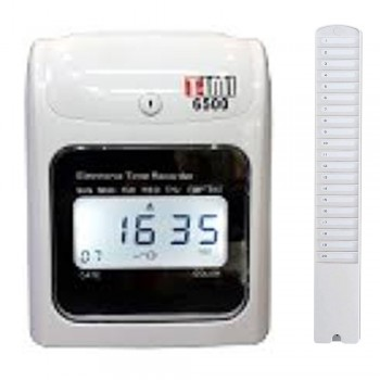 Timi 6500N Time Recorder (Free) 20's Card Rack Time Card