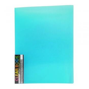 CBE 11440 Neon Colour Clear Holder - A4 (40pockets) Turqu