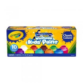 Crayola 10ct Classic Wash Kids Paint 2oz - 541205