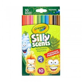 Crayola 10ct Silly Scents Fine Line Washable Markers - 585071