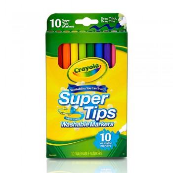 Crayola 10ct Super Tips Washable Markers - 588610