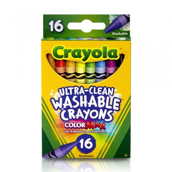 Crayola 16ct Ultra Clean Wash Large Crayons - 523281