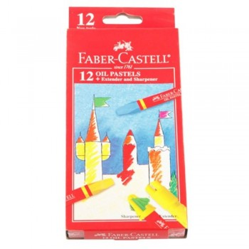 Faber Castell Oil Pastel Box 121223 - 12 Colour (Item No: B05-07) A1R2B193