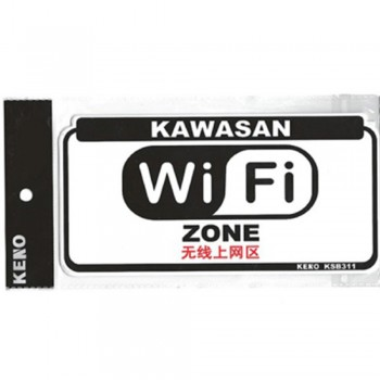 KENO Plastic Notice Sign — WiFi ZONE