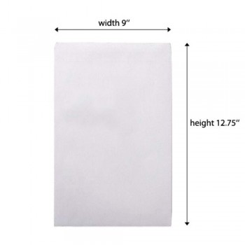 White Envelope - 100gsm - 250 pcs 9-inch x 12.75-inch (Item No: C03-12)