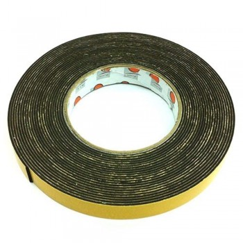 Foam Tape - 18mm x 10m, 3mm thick, Black (Item No: B02-09 DSF18X10) A1R2B50