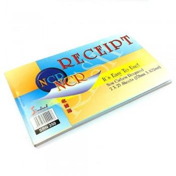 NCR 2-Ply Carbon Receipt - 178mm x 102mm, 2 x 25 sheets (Item No: C02-67) A1R4B159