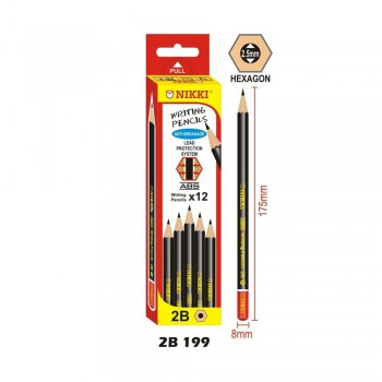 NIKKI 2B PENCIL 12PCS/BOX (2B199)