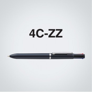 Zebra 4C-ZZ 4 Colour Ball-Point Pen Solid Maroon