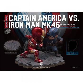 Marvel Captain America: Civil War Egg Attack - Captain America vs Iron Man MK46 (EA-025)