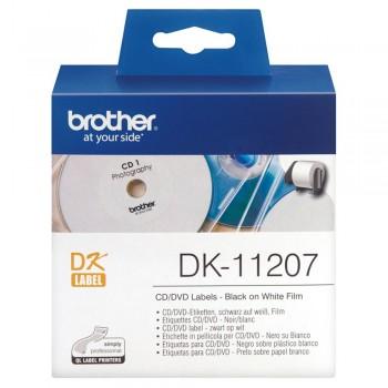 Brother DK11207 CD/DVD Label - 58mm x 58mm